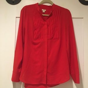 Bright Red J. Crew Blouse