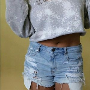 "❌Vtg High Waist 24"" Distressed Cheeky Shorts"