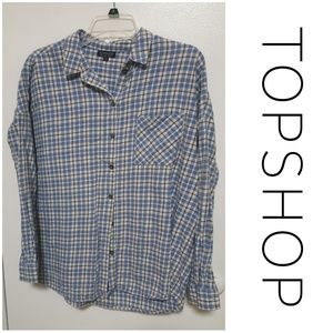 Topshop oversized flannel, size 6