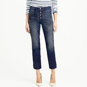 Point Sur Vintage Patch-Pocket Cropped Jean