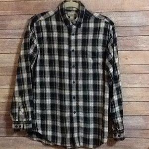 LLBean Mens Small plaid Flannel shirt