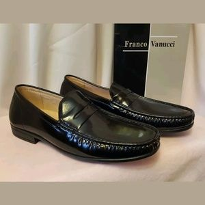 Franco Vanucci Black Dress Loafers Size 9