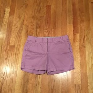 J. Crew Lavender Broken-In Chino Shorts, Size 4