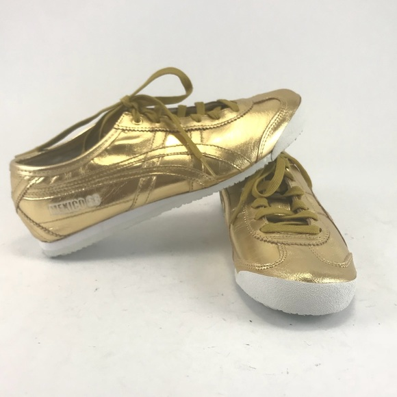 wholesale dealer 9134e 907d0 ASICS onitsuka tiger Mexico 66 gold shoes