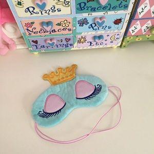 New! Blue Princess Eye Sleep Mask Crown Eyeshadow