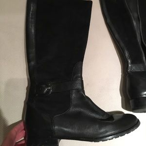 Cole Haan - classic black riding boot