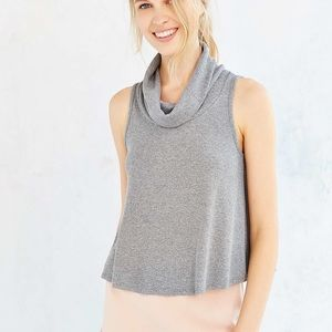 Gray Turtleneck Urban Outfitters Cowl Neck Tank
