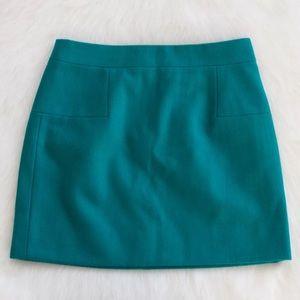 NEW J.Crew Classic Mini Skirt in Felted Wool