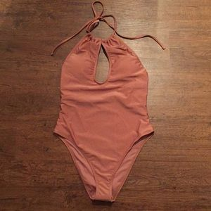 NWT Forever 21 Metallic One Piece Swimsuit