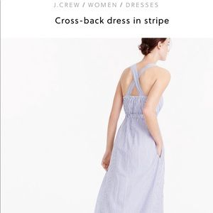 J.CREW CRISS-CROSS STRIPE DRESS