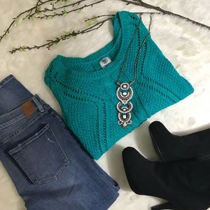 American Eagle Loose Knit Cotton Sweater Pullover