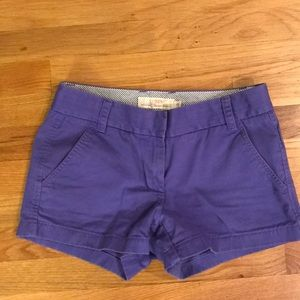 Jcrew Purple Chino Shorts