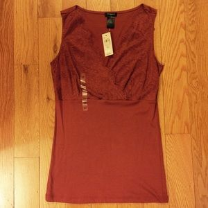 Ann Taylor Lace V-Neck Tank Top