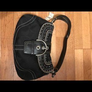 Coach Soho Signature Stitch Flap Shoulder Bag