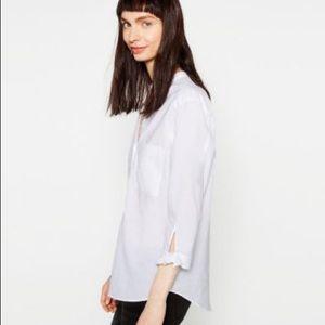 Zara V Buttoned Down Blouse
