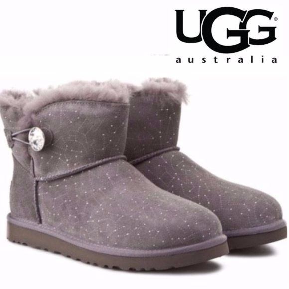 ec1995c6d7e UGG Limited Edition Bailey Button Bling Gray - 10