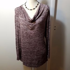 Loft Purple Cowl Necked Long Sleeved Sweater Top