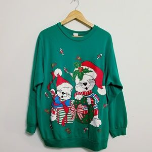 Christmas • Ugly / Cute Sweater Colorful Cats