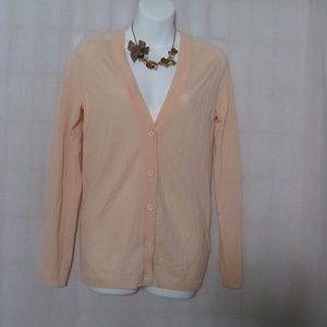 J.Crew Cardigan Sweater Button Down Size Sm Peach
