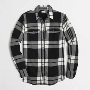 J.Crew Factory Flannel Shirt, Size Small