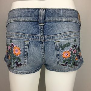 Guess Jeans Embroidered Micro Shorts Stretch  27