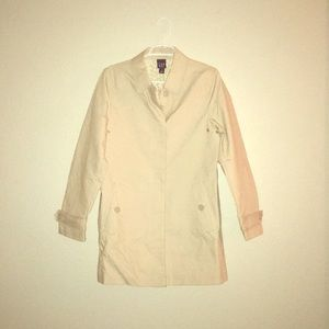 Gap Single Breasted Trench Coat, Floral interior M