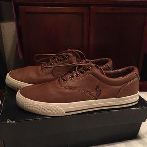 Polo Ralph Lauren leather tennis shoes
