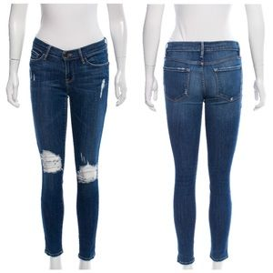 Frame Denim Le Skinny Jeanne Low Rise Jeans