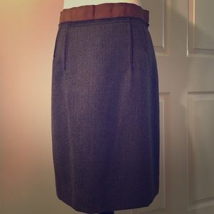 Brown wool skirt.