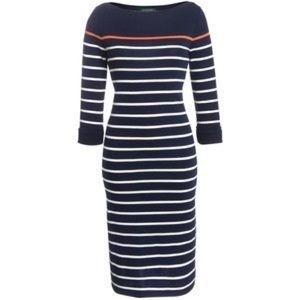 Lauren Ralph Lauren Stripe Midi Dress NWT