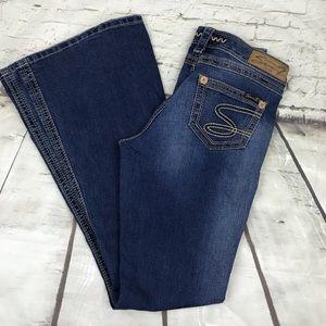 Seven7 flared dark wash jeans flare size 28