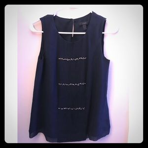 Jcrew embellished navy blue top size 2