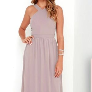 AIR OF ROMANCE TAUPE MAXI DRESS