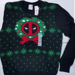 Marvel Deadpool Black Ugly Christmas Sweater
