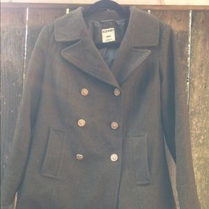 Old Navy Women's M Wool Forest Green Peacoat