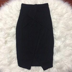 Boohoo Midi Slit Pencil Skirt