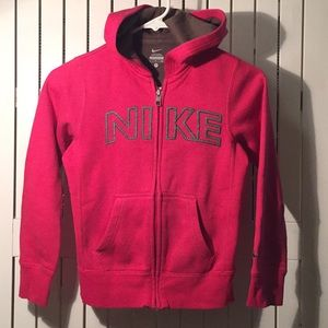 Girl's Nike zip-up hoodie.