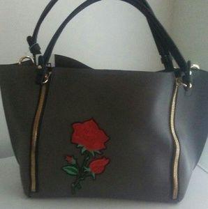 Handbags - Rose Embroidered Handbag