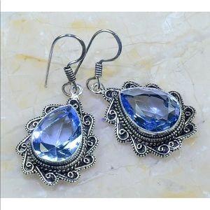Joliet Blue Teardrop Earrings