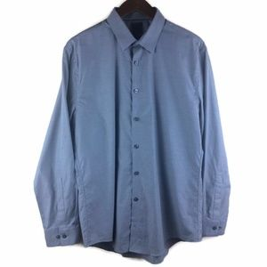 Calvin Klein Button Down Gray Dress Shirt