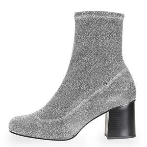 🎄NEW Topshop Martha Glitter Sock Bootie