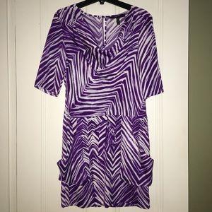 BCBG purple zebra print dress