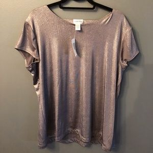 Chico's Liquid Shimmer Lined Bree Tee