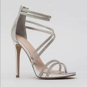 Patent Silver Heels