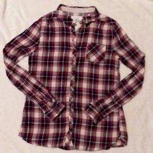 H&M Long Sleeve Plaid Shirt Xsmall