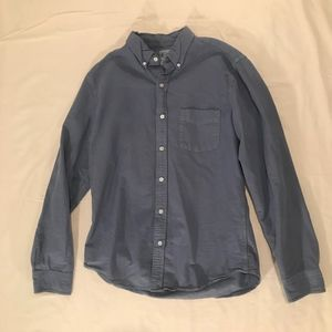 J Crew:  Pale Blue Casual Button Down