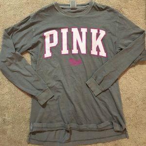 Long sleeve Victoria's Secret pink top