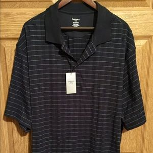 Men's Haggar Dressy Black Polo Shirt