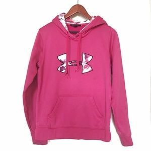 GUC Under Armour® Fleece Big Logo Hoodie, Hot Pink