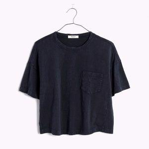 Madewell Garment Dyed Gray Pocket Tee Shirt